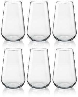 Bormioli Rocco Inalto Uno Double Old Fashioned Gläser für Wasser / Saft x 6 Old Fashioned Gläser