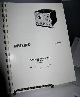 Philips Pm5168 Vintage Function Generator Manual - Includes Schematic 55 Pages