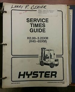 hyster forklift h25e manual on