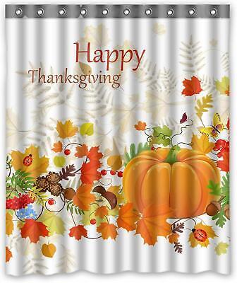 Fall Bathroom Decor (Thanksgiving Bathroom Autumn Decor Fall Pumpkin Leaves Shower Curtain 60