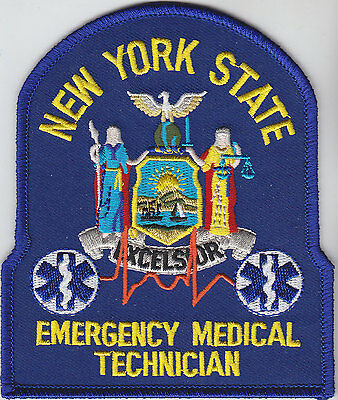 New York State EMT Emergency Medical Technician patch NY NYS Blue version