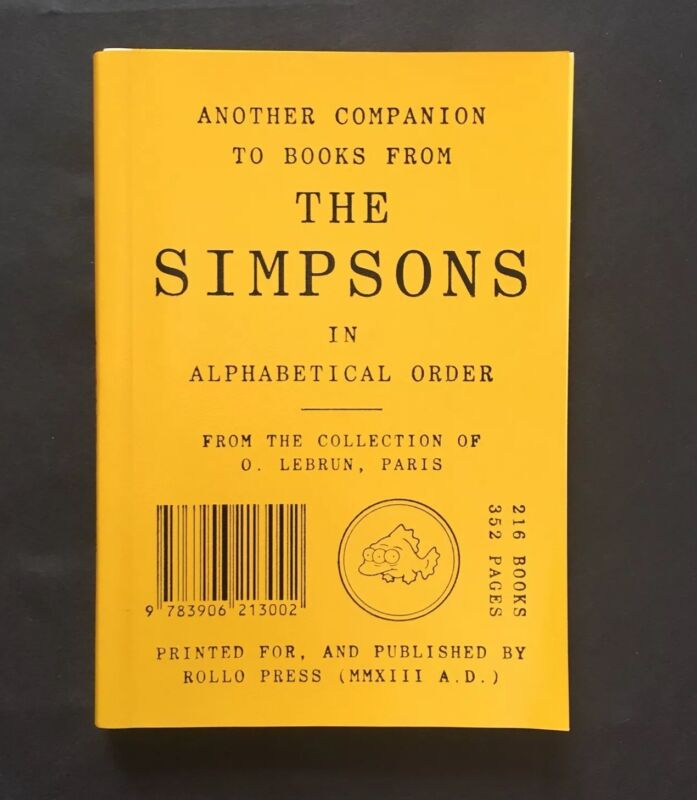 Another Companion to Books from the Simpsons - Very Rare