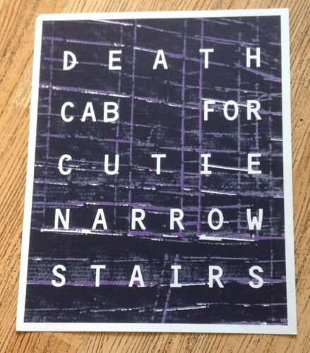 """Death Cab For Cutie--promo poster for """"Narrow Stairs"""" album  2008   11"""" X 14"""""""