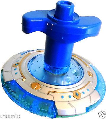 Spinning Led Toy (NEW FUNNY BLUE TOY LED LASER CRAZY FROG MUSICAL FLASH LIGHT UFO PEG-TOP)