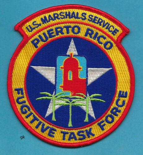 US  MARSHAL SERVICE PUERTO RICO FUGITIVE TASK FORCE POLICE SHOULDER PATCH