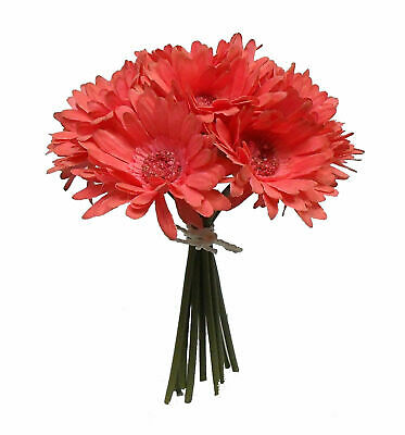 Gerbera Daisies Wedding Bouquets (Gerbera Daisy Bouquet MANY COLORS Wedding Bridal Silk Flowers Centerpieces Party )