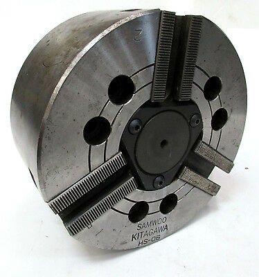 Kitagawa 6.5 Diameter 3-jaw Power Chuck 1.8 Thru Hole Model Hs-06
