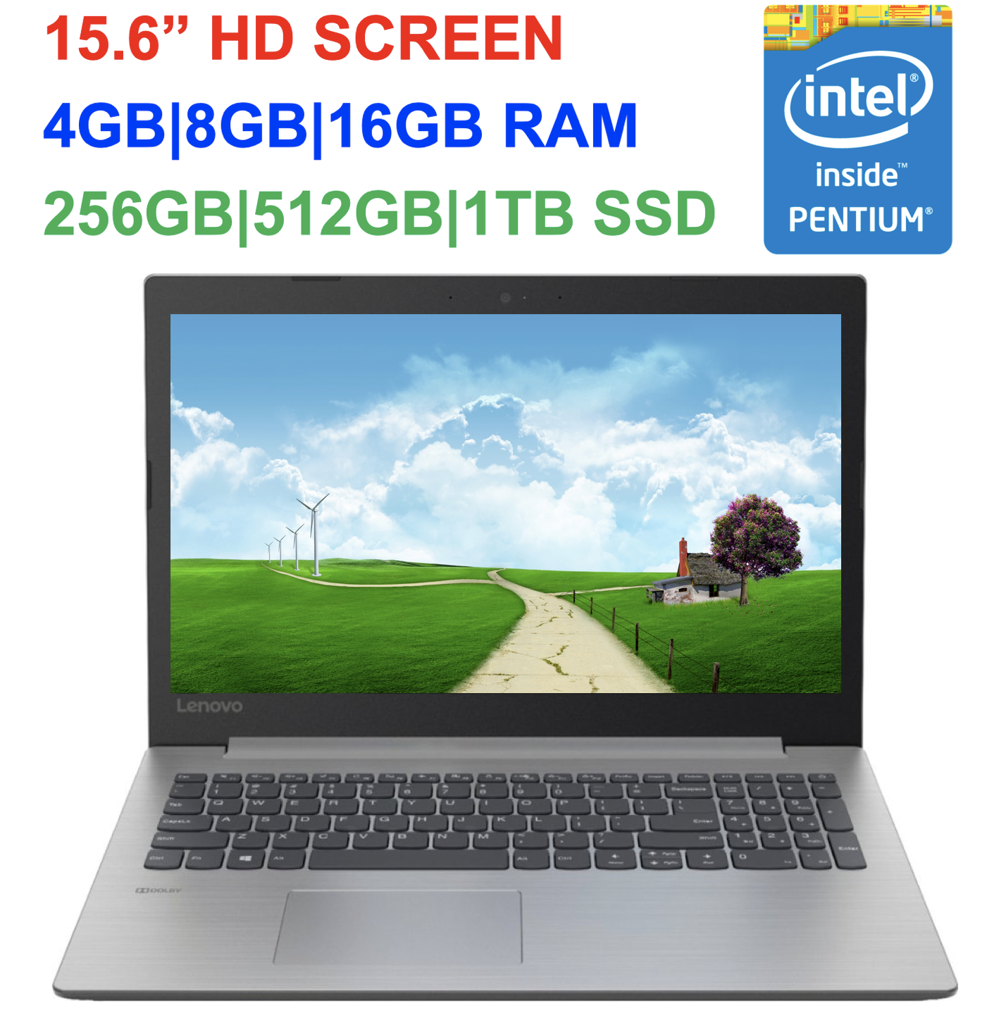 "2019 Newest Lenovo 330 15.6"" Laptop Intel Pentium N5000, up"
