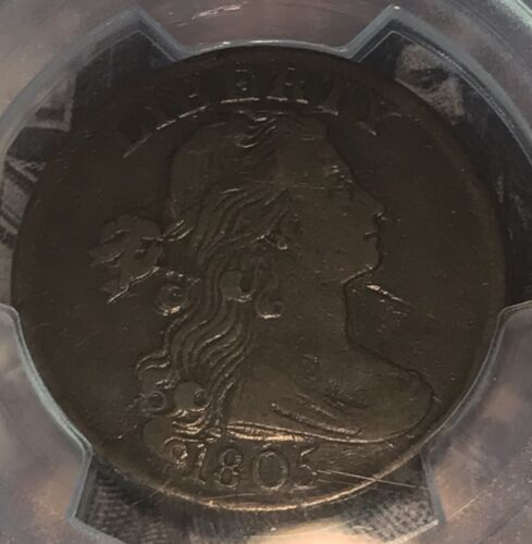 1805 draped bust large cent ,  Pcgs VF20