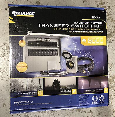 Reliance 10 Circuit Transfer Switch Kit 310crk
