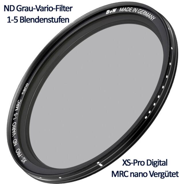 B+W ND Grau-Vario-Filter 52 mm 1-5 Blendenstufen XS Pro Digital MRC nano
