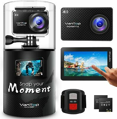 VanTop MM4 4K 20MP Waterproof Action Camera with Touch Screen, Remote, EIS