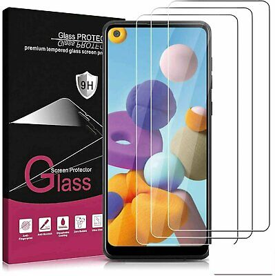 3-Pack For Samsung Galaxy A21 / A21s Tempered Glass Screen Protector Premium Cell Phone Accessories