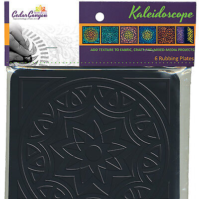 KALEIDOSCOPE Texture Rubbing Plates NEW SET of 6 Textiles Paintstiks Clay Ink