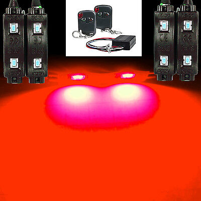 RED LED + REMOTE CUSTOM MOTORCYCLE ACCENT LIGHT KIT