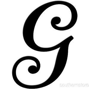 Script Letter G Metal Letter G: Home D...