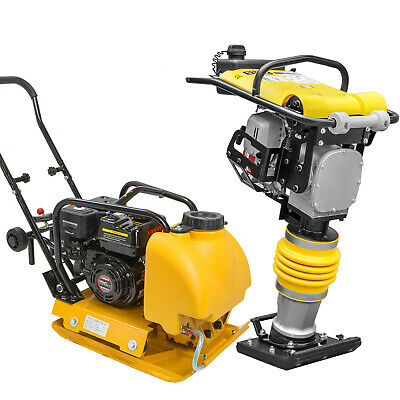 Stark Usa 6.5hp Water Tank Gas Vibratory Compactor W Gas Tamper Jumping Jack