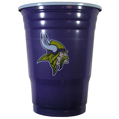 Minnesota Vikings Party Supplies (MINNESOTA VIKINGS PLASTIC GAMEDAY CUPS 18OZ 18CT SOLO TAILGATE PARTY SUPPLIES)