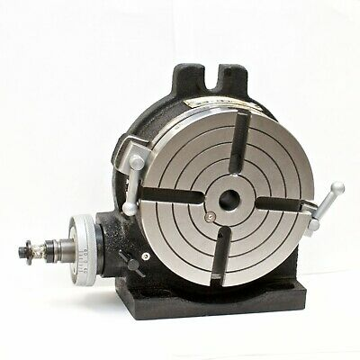 Vertex Hv-6 4-slot 6 Horizontalvertical Rotary Table With 4-slot Face Plate