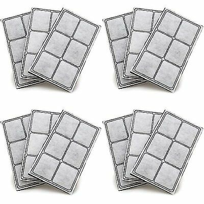 Premium Platinum Charcoal Water Filters for Drinkwell Pet Fountain pack of 12