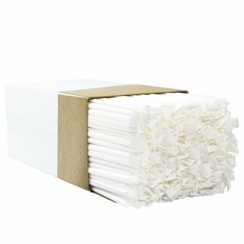 "300 Drinking Straws Paper Wrapped Slim Plastic 7-3/4"" Translucent Clear Stirrer"