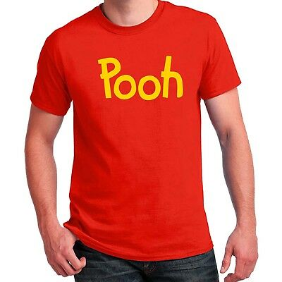 Pooh printed T-shirt Winnie the Pooh Halloween Costume Shirts Adult Kid cosplay