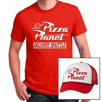 Pizza Planet T-shirt with matching Mesh Hat combo Halloween Costume cosplay set - Pizza Costume Halloween