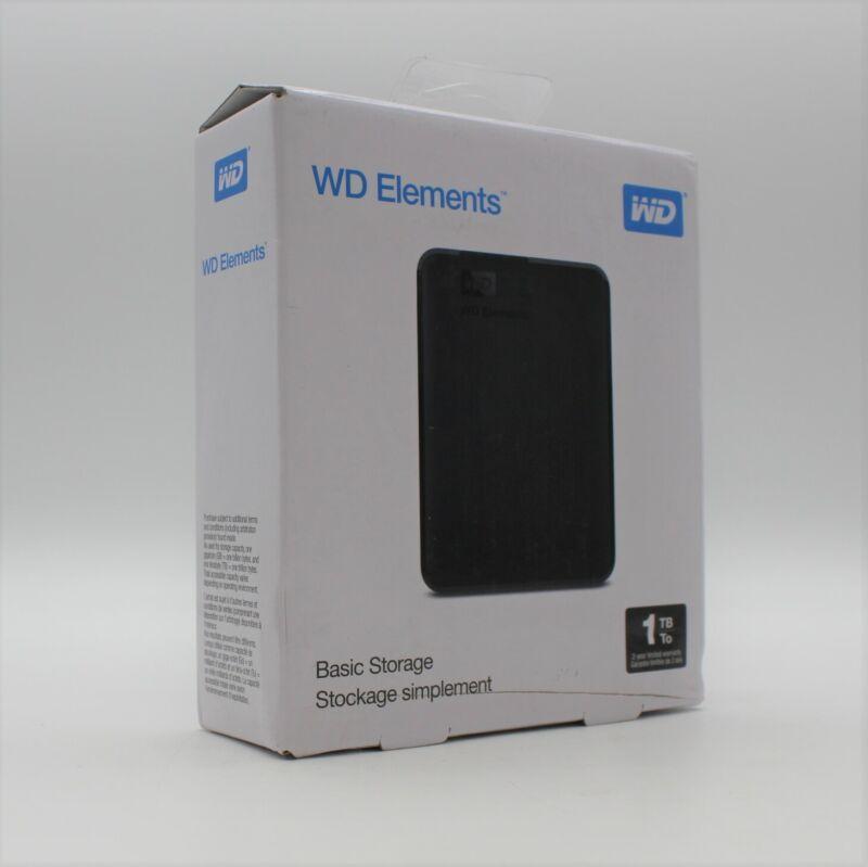 WD 1TB Elements Portable Storage USB 3.0 Model WDBUZG0010BBK-WESN New & Sealed