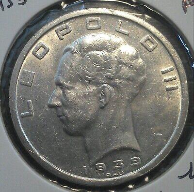 monnaie munt Léopold III 50 fr 1939 FR/FL position B Morin 444 b
