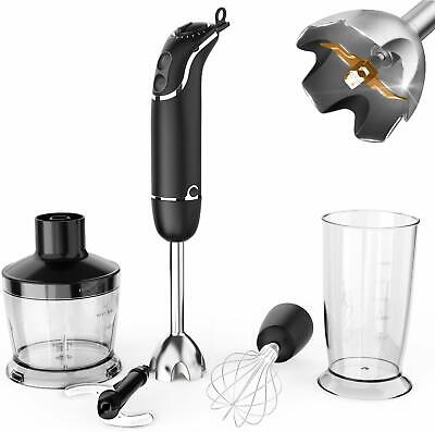 800W 4 in 1 Electric Immersion Hand Blender Set 12Speed Kitchen Food Stick Mixer