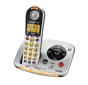 Uniden D2997 Loud and Clear Cordless Answering System with Big Buttons Phone