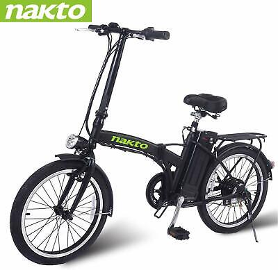 "NAKTO Electric Bicycle 20"" Folding Electric Bike 250W36V10AH Lithium Battery"