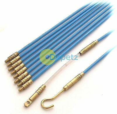CABLE ACCESS KIT LONG REACH 10 X 330MM PULLER ROD WIRES HOOK RING EXTEND TOOLBOX