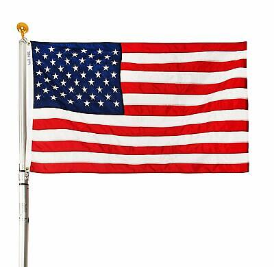 24 FT Residential Flag Pole Flagpole Kit & 3x5 US American Flag MADE IN USA MAGA 24 Pole Flags