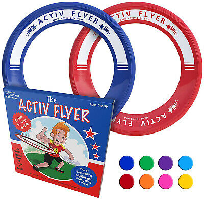 Kids Flying Rings Red/Blue Outdoor Fun Family Game Gift Idea Backyard Beach - Beach Game Ideas