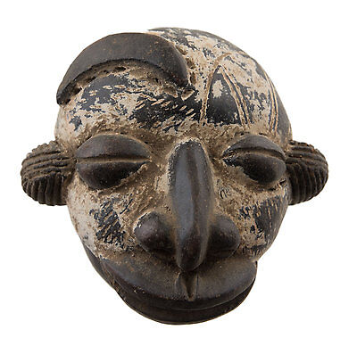 Mask Diminutive African Pasport Miniature Earth Cotta Divination 6449 AF1