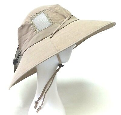 0625b488707 SUN PROTECTION ZONE Unisex BOONEY HAT Lightweight KHAKI Adult 100 SPF UPF 50 +