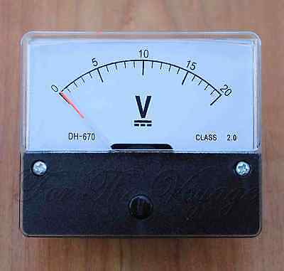 Voltmeter Analogue Panel Volt Meter Dc Analog New0- 20v