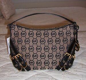 Purchase Michael Kors Grayson Shoulder - Itm Nwt Michael Kors Grayson Med Convertible Shoulder Bag Monogram Logo Jacquard  310395940780