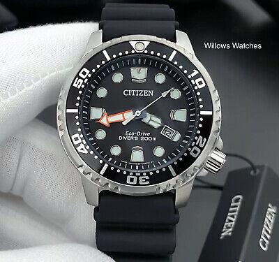 Citizen Promaster Eco-Drive Men's 200M Black Dial Divers Watch BN0150_10E New