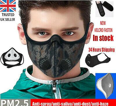 Waterproof Grey UK FILTER Vent Face Mask NEW Mens Boys Girls Womens Gym Running