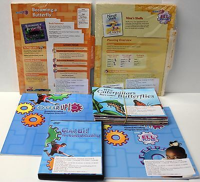 Gear Up,Ell Fluency Kit: Grade 1-2 Guided Reading,ELL Lesson Plans,DVD,Books (9) Guided Reading Lesson Plans