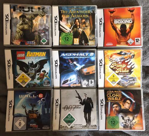 9 Spiele für Nintendo DS / DS Lite, top!