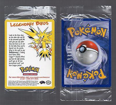 PoKeMoN 2000 Movie PROMO LEGENDARY BIRDS SEALED RARE Single Card Nintendo