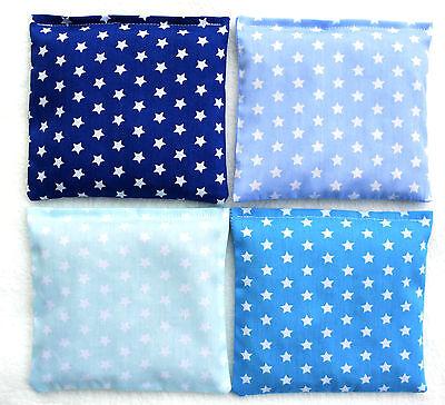 Baby Kirschkernkissen ~ Sterne ~ 4 Blautöne in Farbauswahl ~ Wärmekissen ~ 15x15