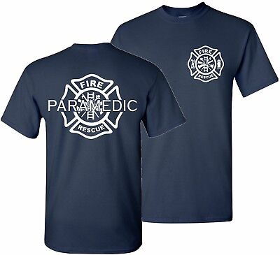 Firefighter Paramedic EMT Fire Rescue Thin Red Line Department Tshirt T Shirt