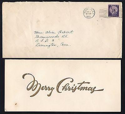 1955 TED WILLIAMS Baseball Hall of Famer CHRISTMAS CARD - Baseball Christmas