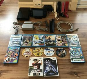 Wii U 32GB Console w/ 4 Wiimotes and 14 games