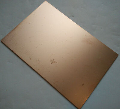 Single Sided Copper Sheet Plate Guillotine Cut Fr-4 Copper Clad Pcb 10x15cm B