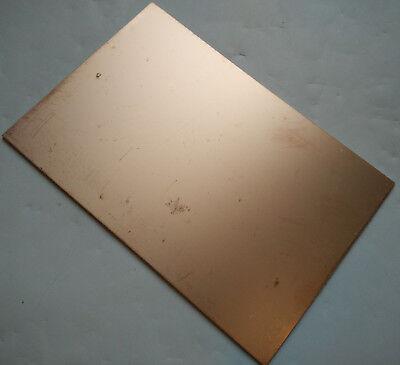 Single Side Copper Sheet Plate Guillotine Cut Fr-4 Copper Clad Pcb 10x15cm